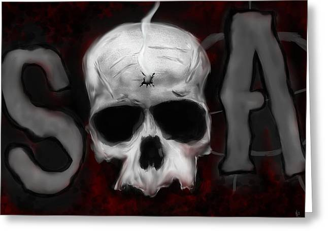 Sons Of Anarchy Greeting Cards - Sons of Anarchy  Greeting Card by Mathieu Lalonde