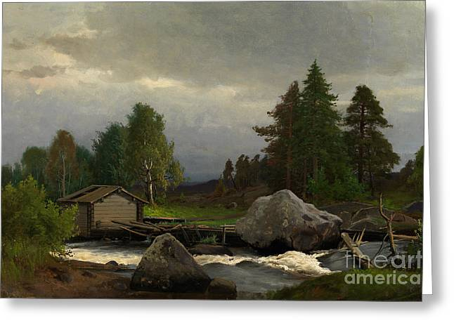 Norge Greeting Cards - Sorsakoski Greeting Card by Celestial Images