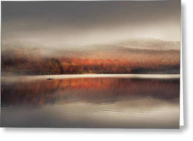 Foggy Day Greeting Cards - Sound of Silence Greeting Card by Magda  Bognar