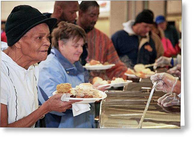 Soup Kitchen Greeting Card by Jim West