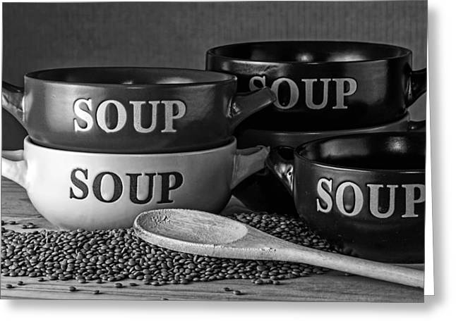 Supper Bowl Greeting Cards - Soup Sounds Good Greeting Card by Mountain Dreams