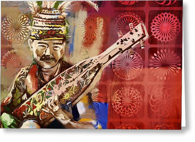 Native Art Greeting Cards - South Asian Art Greeting Card by Corporate Art Task Force