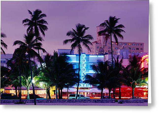 South Beach, Miami Beach, Florida, Usa Greeting Card by Panoramic Images