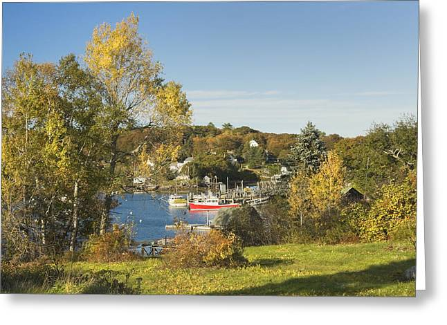 Coastal Maine Greeting Cards - South Bristol on the coast of Maine Greeting Card by Keith Webber Jr