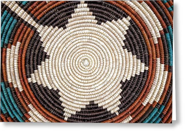 Basket Photographs Greeting Cards - Southwestern Basket Detail Greeting Card by Carol Leigh
