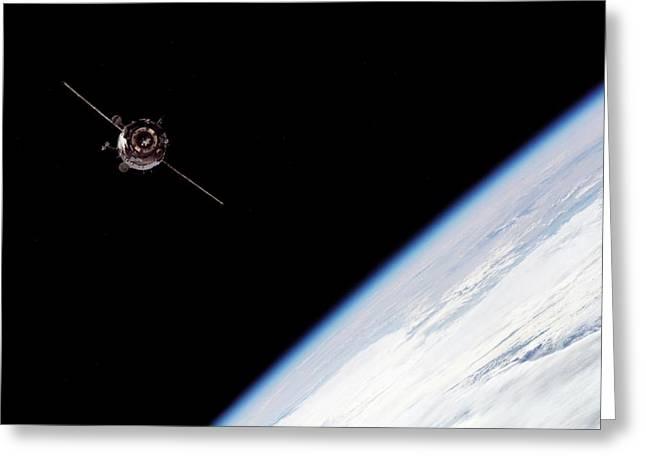 Soyuz Tma-3 Spacecraft Greeting Card by Nasa