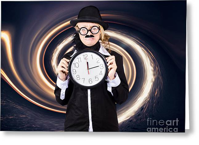 Space Astronomer Getting Sucked Into A Black Hole Greeting Card by Jorgo Photography - Wall Art Gallery