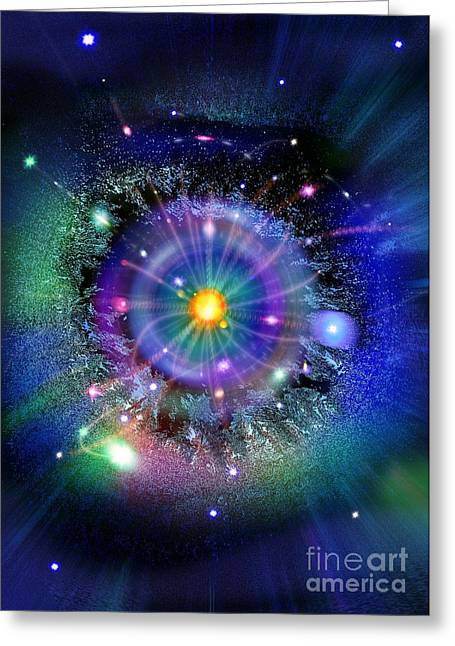 Alternate Universes Greeting Cards - Space-time Gateway Greeting Card by Richard Kail