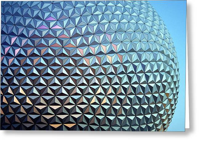 Epcot Center Greeting Cards - Spaceship Earth Greeting Card by Cora Wandel