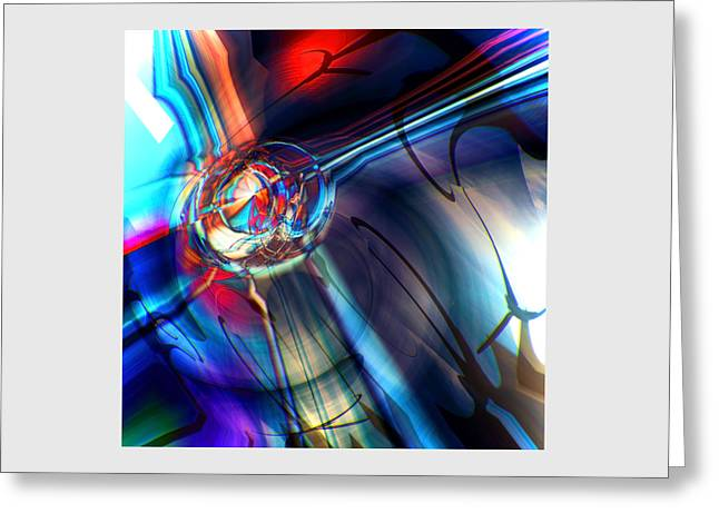 Abstract Digital Greeting Cards - Spacial Lights Reverbs 1 Greeting Card by Michel Godfroid Meding