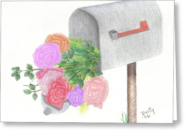 Flower Boxes Drawings Greeting Cards - Special Delivery Greeting Card by Dusty Reed