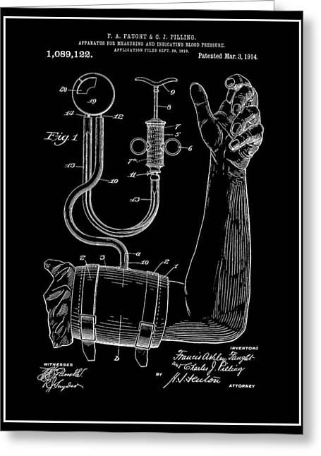 Blood Pressure Greeting Cards - Sphygmomanometer Greeting Card by Dan Sproul
