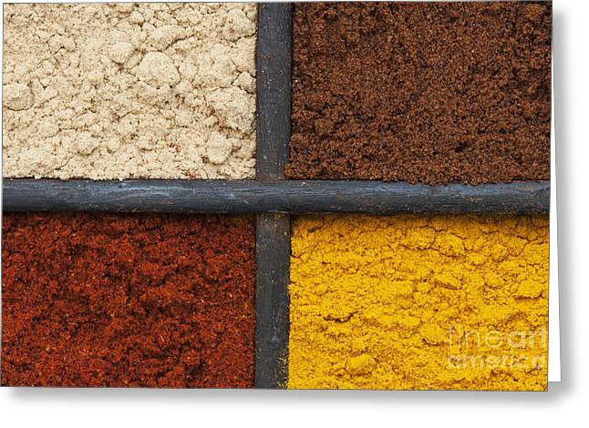 Curry Greeting Cards - Spices of India Greeting Card by Tim Gainey