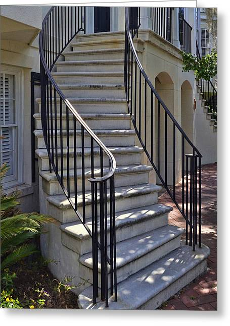 Town Square Greeting Cards - Spiral Staircase 2 Greeting Card by Allen Beatty