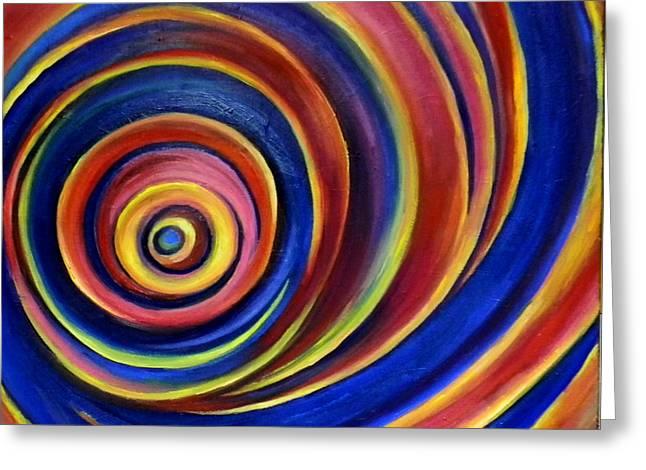 Spirals Greeting Card by Art by Kar
