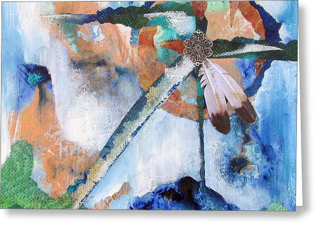 Disk Mixed Media Greeting Cards - Time Passing - Peace Circle Greeting Card by Chris Morningforest