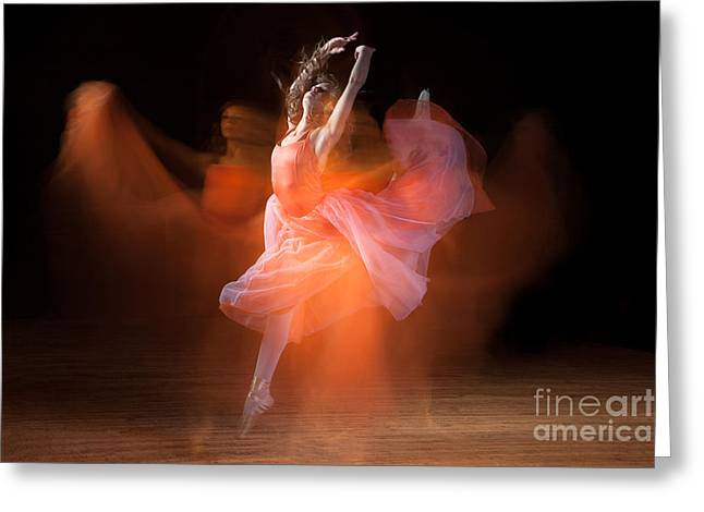 Ballet Dancers Photographs Greeting Cards - Spirit Dance Greeting Card by Cindy Singleton