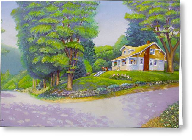 Small Towns Pastels Greeting Cards - Spirit Lake House Greeting Card by Bruce MacBride