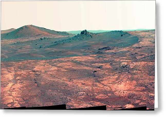 Spirit Of St. Louis Crater Greeting Card by Nasa/jpl-caltech/cornell Univ./arizona State Univ.