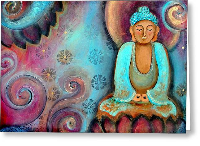 Buddhist Greeting Cards - Spiritscape Greeting Card by Tara Catalano