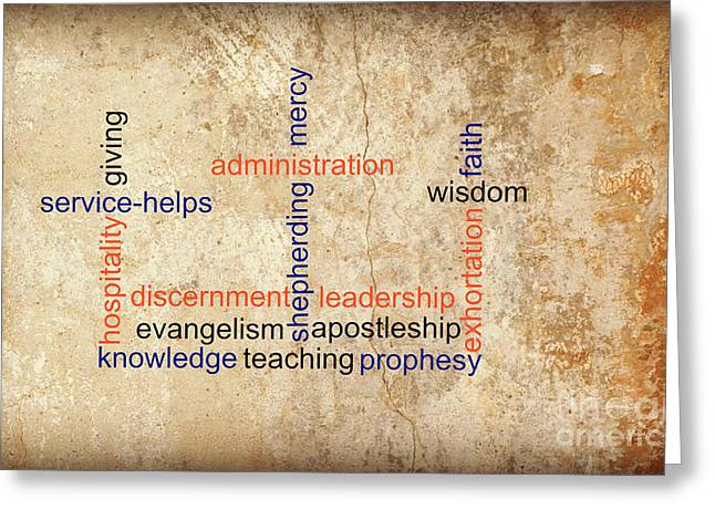 Discernment Greeting Cards - Spiritual Gifts Greeting Card by Living Waters Photography