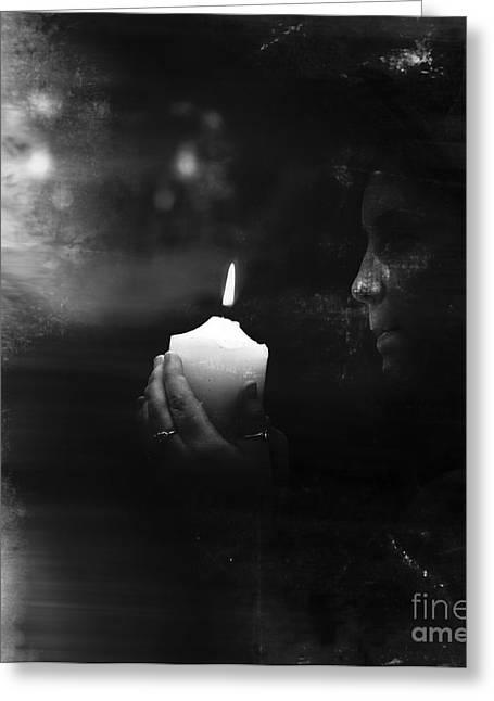 Seance Greeting Cards - Spiritual Journey Of Awakening Greeting Card by Ryan Jorgensen