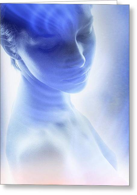 Human Spirit Greeting Cards - Spirituality, conceptual image Greeting Card by Science Photo Library