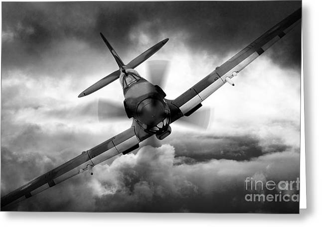 Spitfire Greeting Cards - Spitfire Greeting Card by J Biggadike