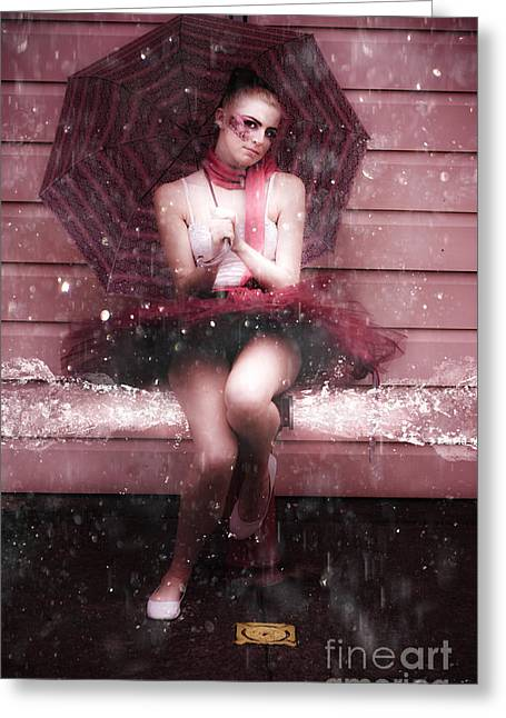 Ballet Dancers Greeting Cards - Splash Dancing Greeting Card by Ryan Jorgensen