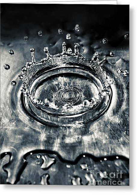 Water Droplets Greeting Cards - Splash Greeting Card by HD Connelly