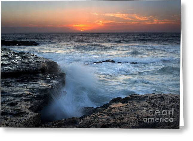 Cape Photographs Greeting Cards - Split Greeting Card by Mike Dawson