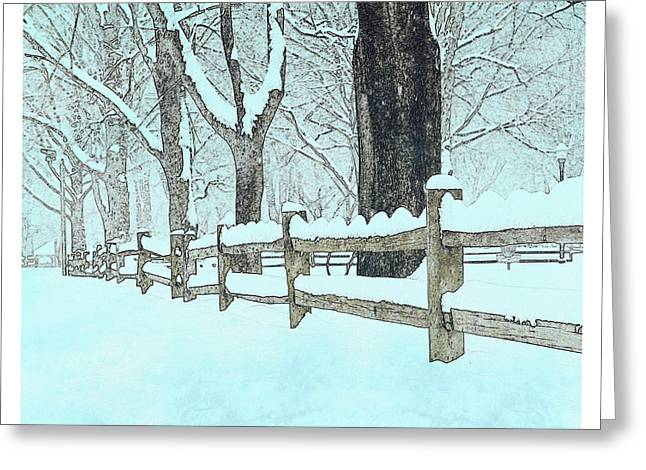 Split Rail Fence Greeting Cards - Split Rail Blues Greeting Card by John Stephens
