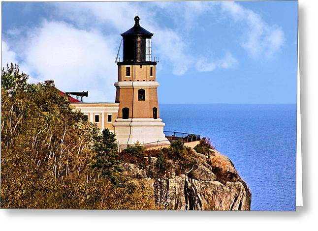 Split Rock Lighthouse Greeting Card by Kristin Elmquist