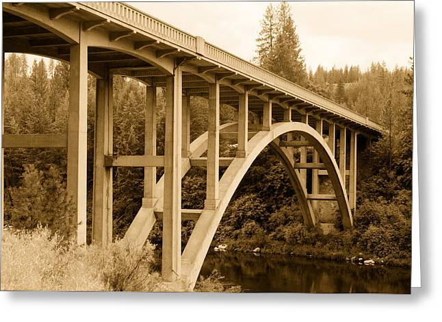 Spokane Greeting Cards - Spokane River Bridge - Washington Greeting Card by Mountain Dreams