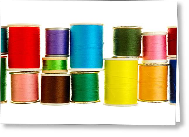 Spool Greeting Cards - Spools Of Thread Greeting Card by Jim Hughes