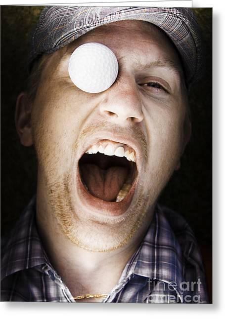 Hurting Head Greeting Cards - Sport Injury Greeting Card by Ryan Jorgensen