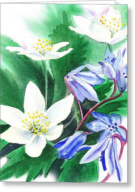 Pollen Greeting Cards - Spring Flowers Greeting Card by Irina Sztukowski