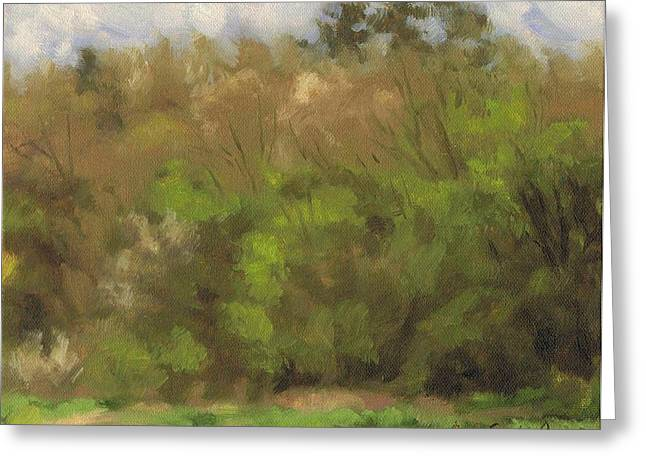 Paysage A L Greeting Cards - Spring forest - Foret printaniere Greeting Card by David Ormond
