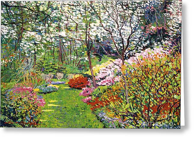 Recommended Paintings Greeting Cards - Spring Forest Vision Greeting Card by David Lloyd Glover