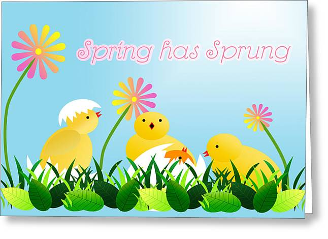 Easter Flowers Greeting Cards - Spring has Sprung Greeting Card by Shelley Neff