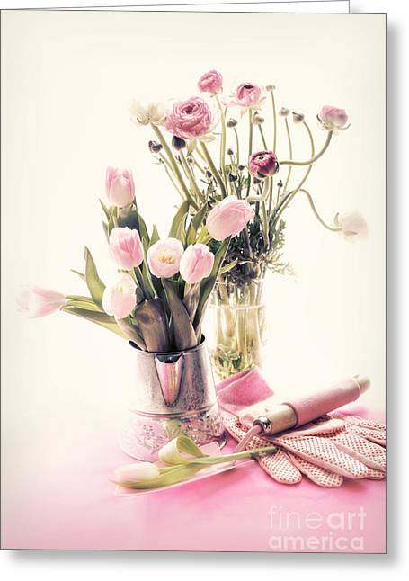 Easter Flowers Greeting Cards - Spring Greeting Card by HD Connelly