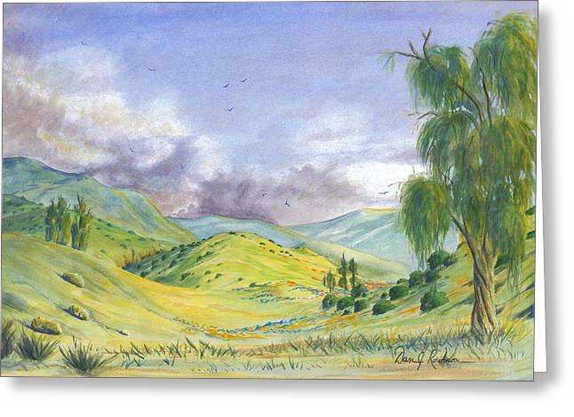 Hills Glass Greeting Cards - Spring in the Corona Hills Greeting Card by Dan Redmon