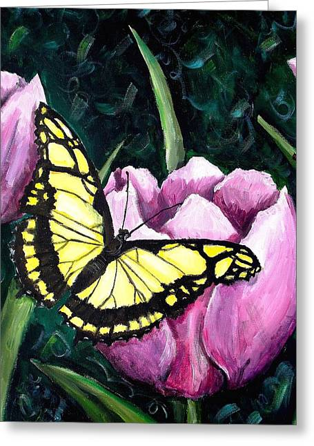 Fluttering Paintings Greeting Cards - Spring Paradise Greeting Card by Shana Rowe