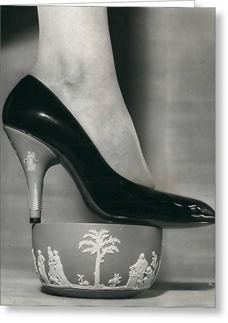 """Retro Photography Greeting Cards - Spring Shoes By Rayne. The """"wedgwood"""" Collection For Export. Greeting Card by Retro Images Archive"""