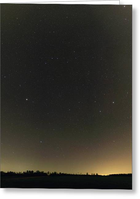 Spring Stars And Light Pollution Greeting Card by Eckhard Slawik