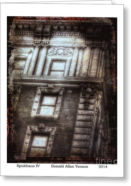 Ghostly Tears Greeting Cards - Spukhaus IV Greeting Card by Donald Yenson
