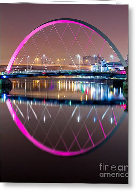 Squinty Bridge Glasgow Greeting Card by John Farnan
