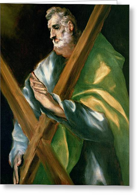 Bravery Greeting Cards - St Andrew Greeting Card by El Greco