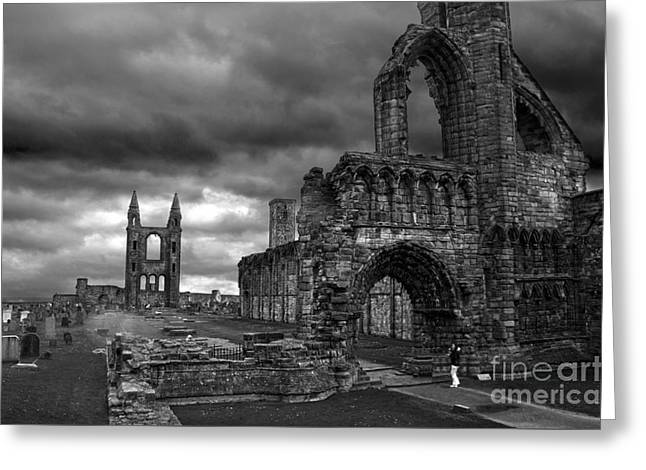 St Andrews Cathedral And Gravestones Greeting Card by RicardMN Photography