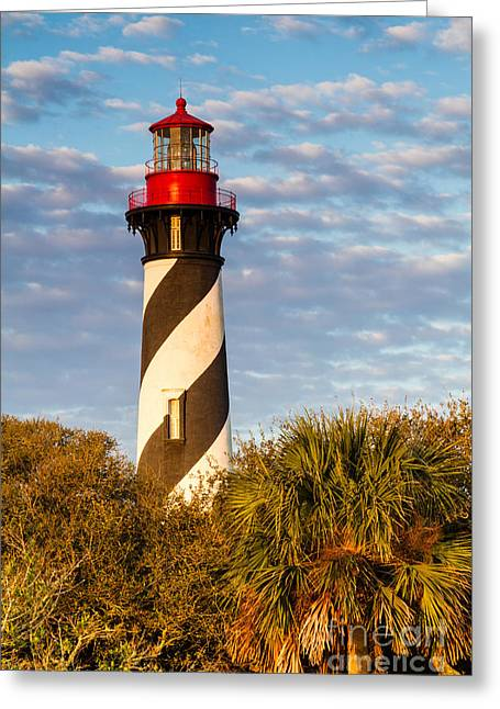 St. Augustine Lighthouse St. Augustine Florida Greeting Card by Dawna  Moore Photography